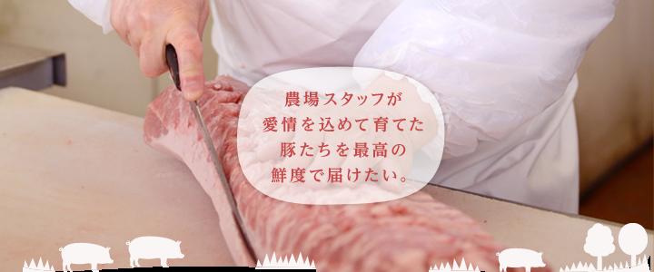 農場スタッフが愛情を込めて育てた豚たちを最高の鮮度で届けたい。